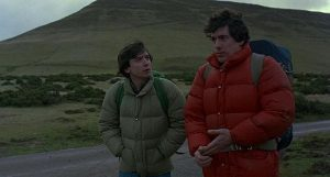 The guys in American Werewolf in London leave the Slaughtered Lamb for the moors as dusk descends