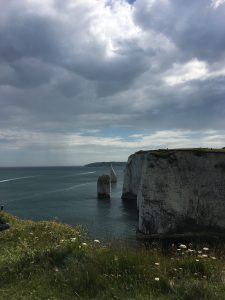 Chalk Stacks looking west from Old Harry